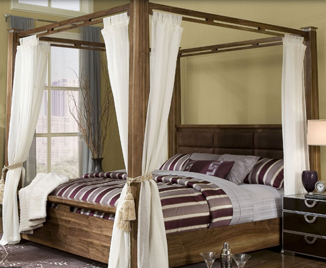 Dreamy and Romantic Full Draped Canopy Beds 2