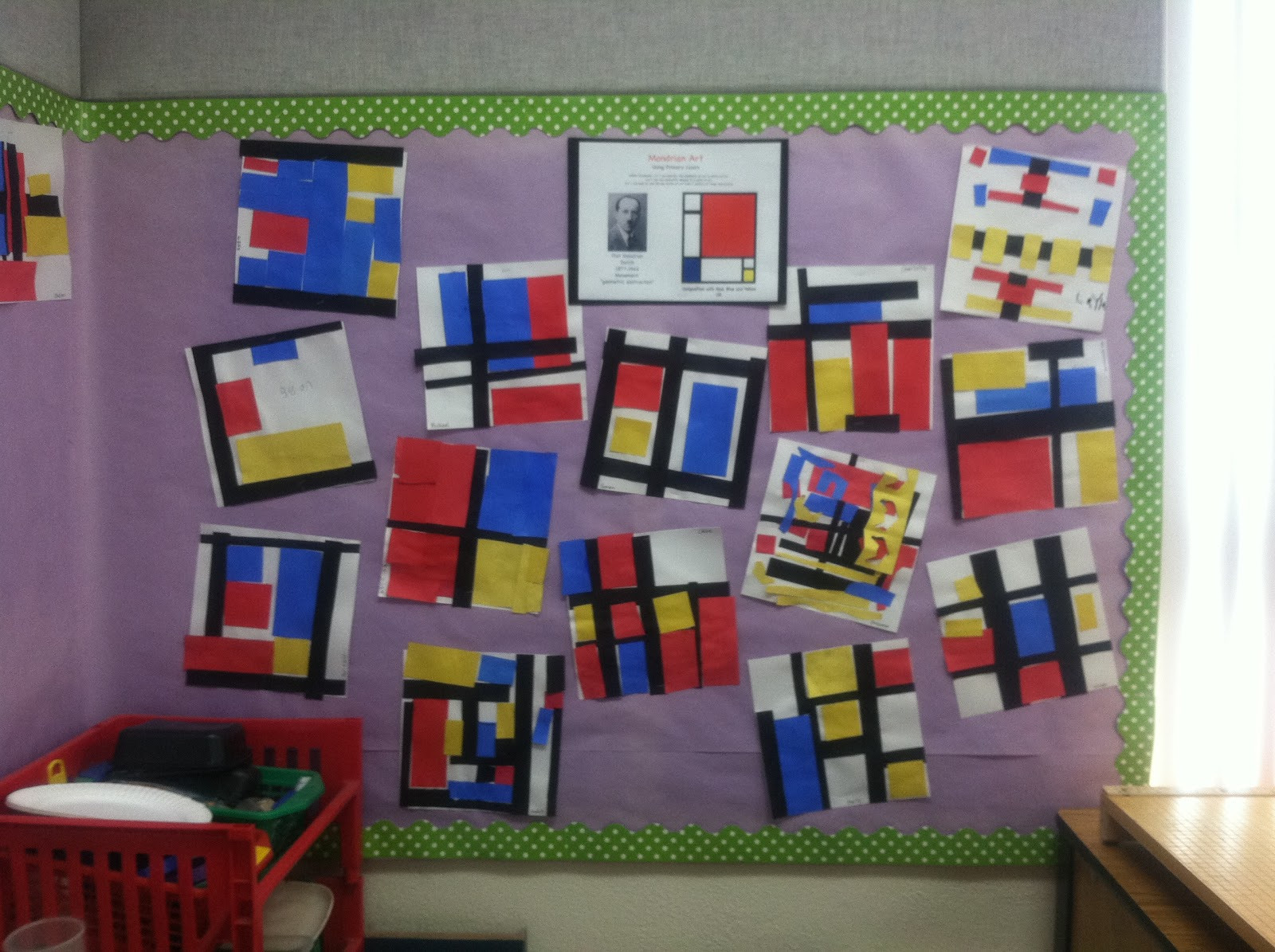 Kinder Learning Garden Primary Colors And Piet Mondrian