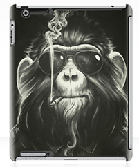 ipad cover of Monkey smoking