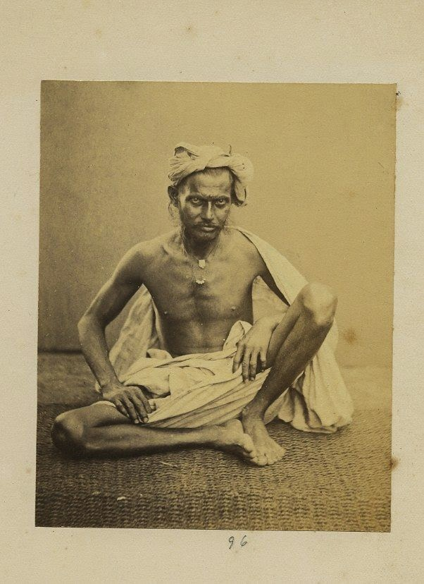 Indian Working Man - Vintage Photograph c1870's