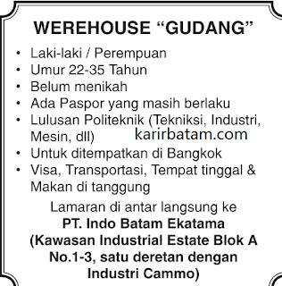 Lowongan Kerja PT. Indo Batam Ekatama (Januari 2018)