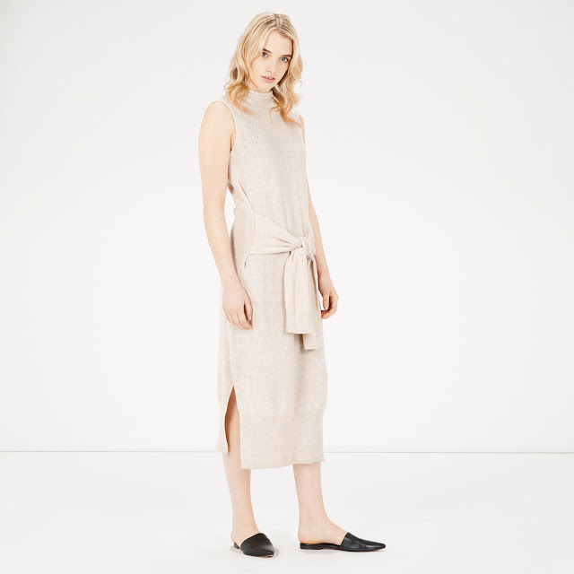 midi dress with tie waist, linen midi dress,