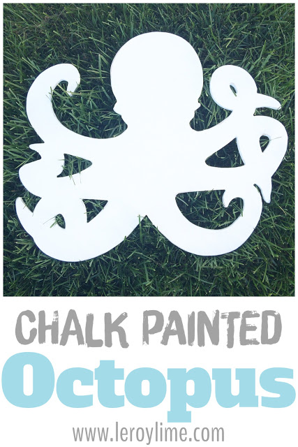 Chalk Painted Octopus - easy diy - LeroyLime the blog