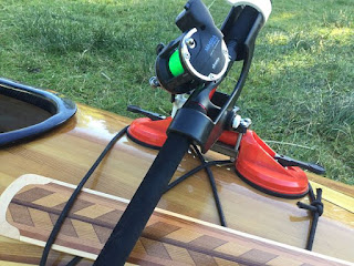 Kayak Fishing - Pole Holder Set-up (Up close)