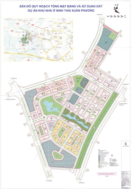 Quy Hoạch Đô Thị Foresa Villa – Khu Đô Thị Sinh Thái Xuân Phương Tasco