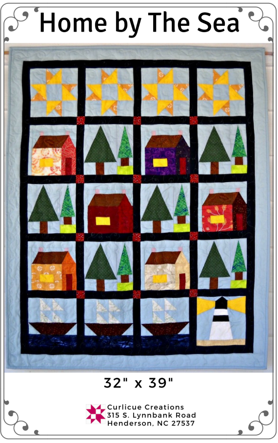 Curlicue Creations Home By The Sea Quilt Pattern