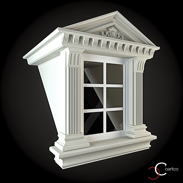 Ornamente Geamuri Exterior, fatade case cu profile decorative polistiren, profile fatada,  Model Cod: WIN-098