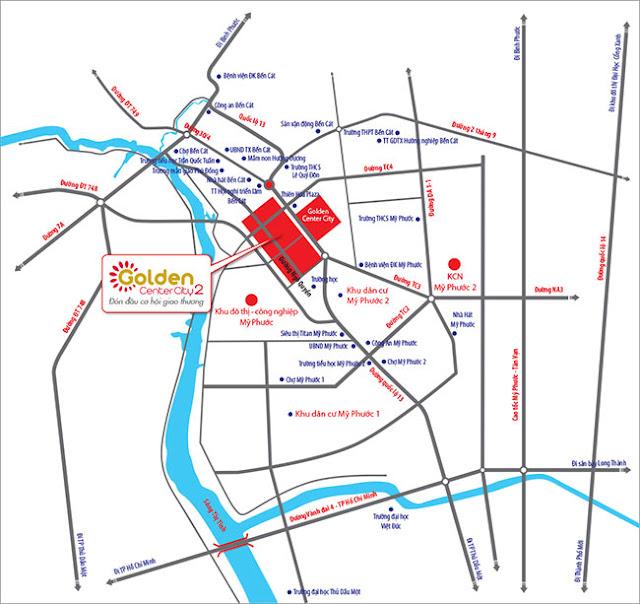 Vị trí dự án Golden Center City 2
