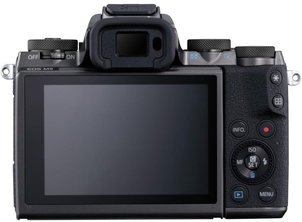 Canon EOS M5, вид сзади