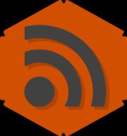 rss hexagon icon