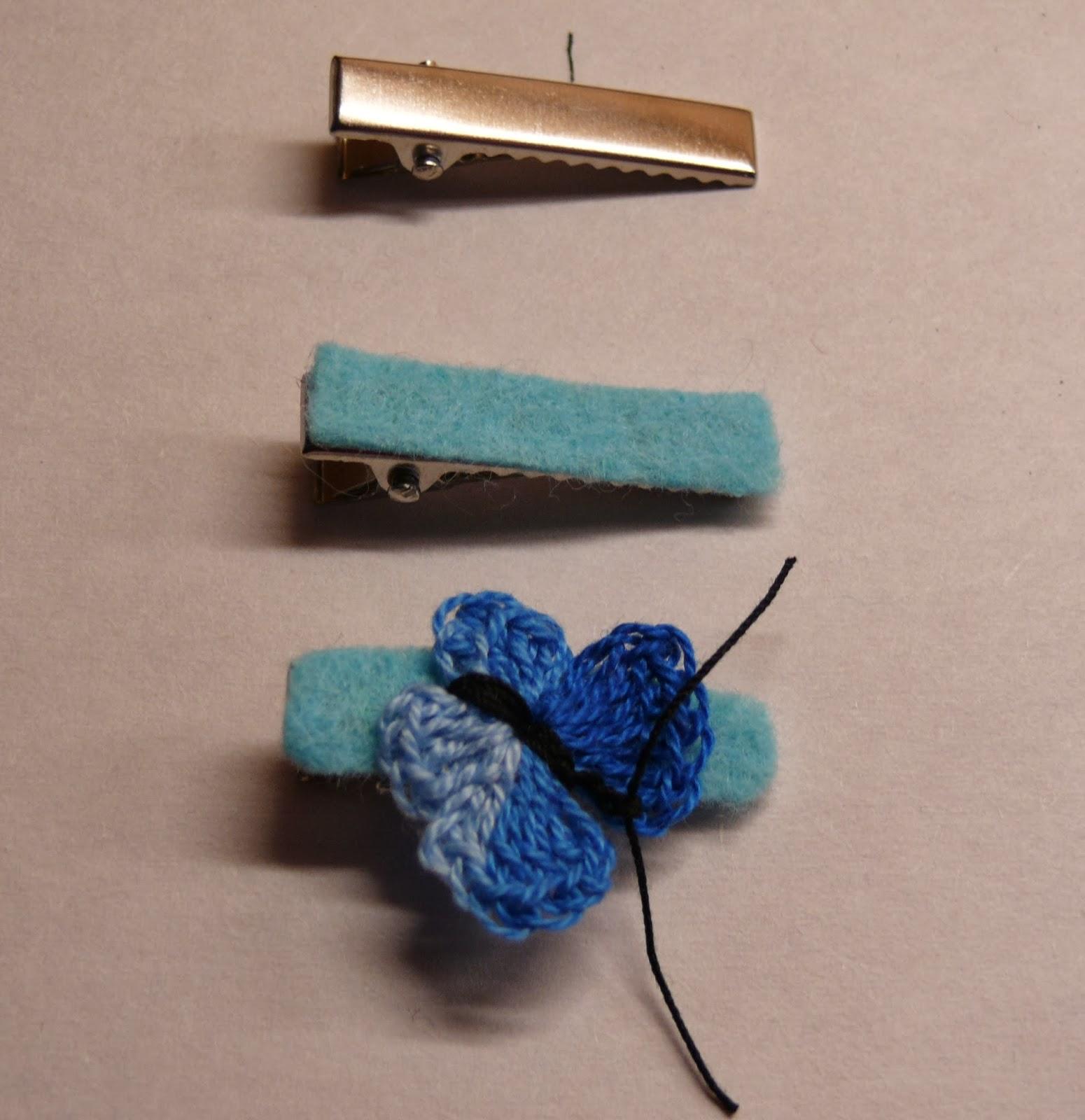 String Theory Crochet Crochet Butterfly Hair Clips