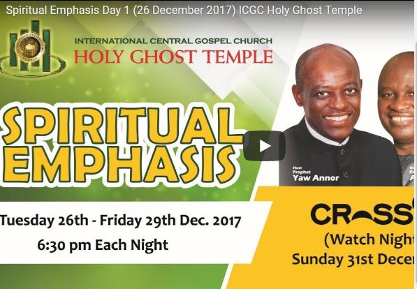 Live Streaming ICGC Holy Ghost Temple Church