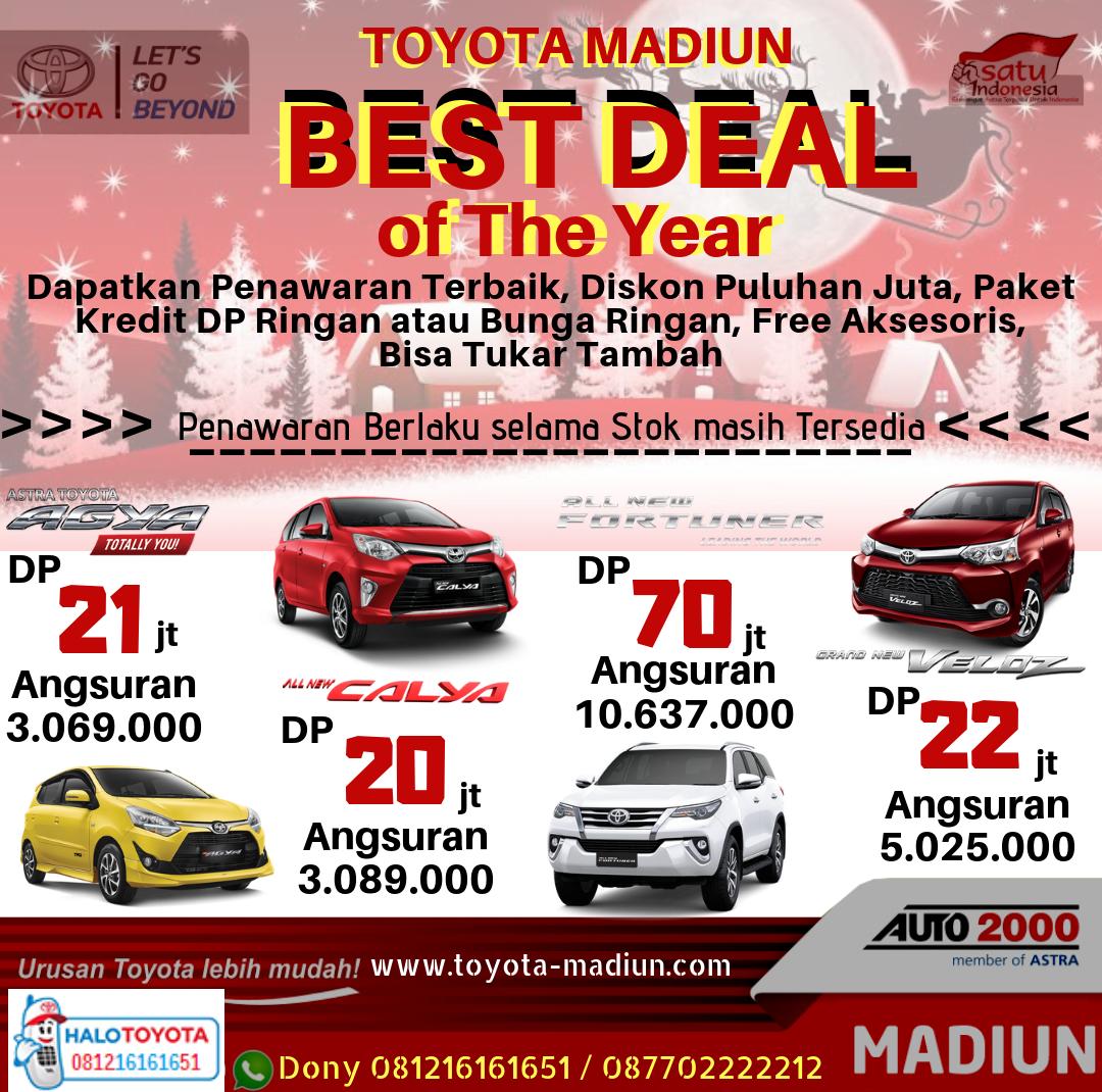 Best Deal Of The Year Toyota Madiun Harga Otr Dan Promo Kredit Terbaru