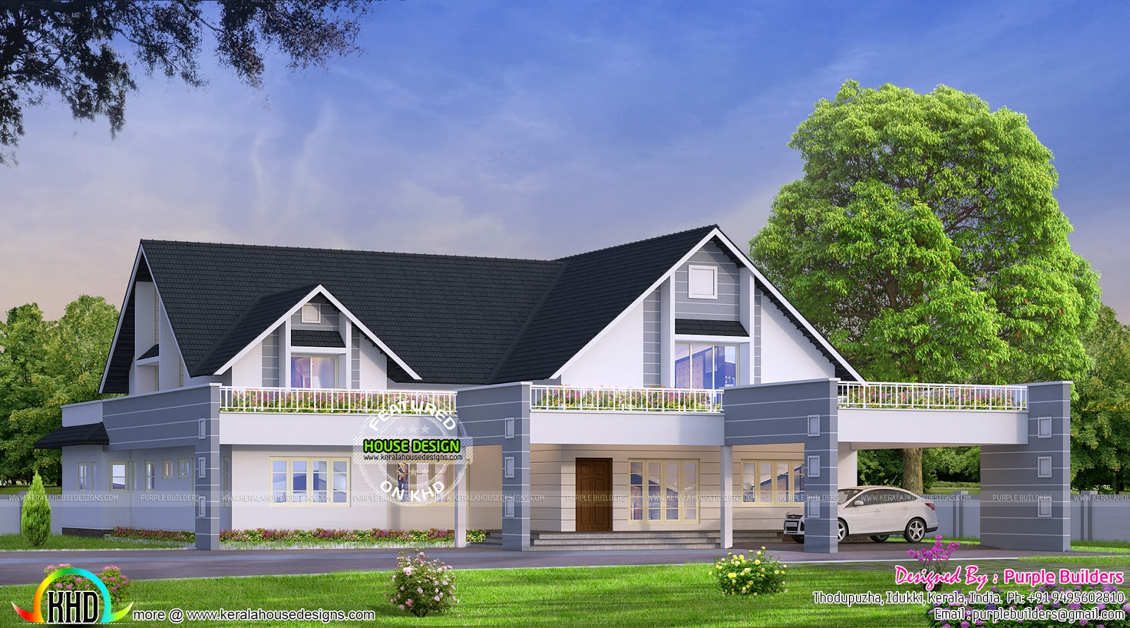3000 sq ft bungalow kerala home design and floor plans for 3000 sq ft house plans kerala style