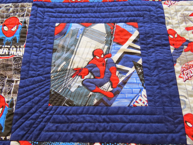 Jen' Crafts And Quilts Scrapbook Spiderman Quilt Bain