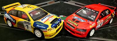 Seat Córdoba WRC y Mitsubishi Lancer de Scalextric