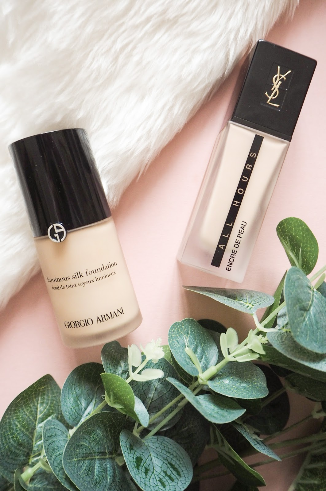 Armani Luminous Silk Shade 2 Compared to YSL All Hours Foundation B 10 - Comparison and Review