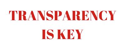 A company needs to be transparent