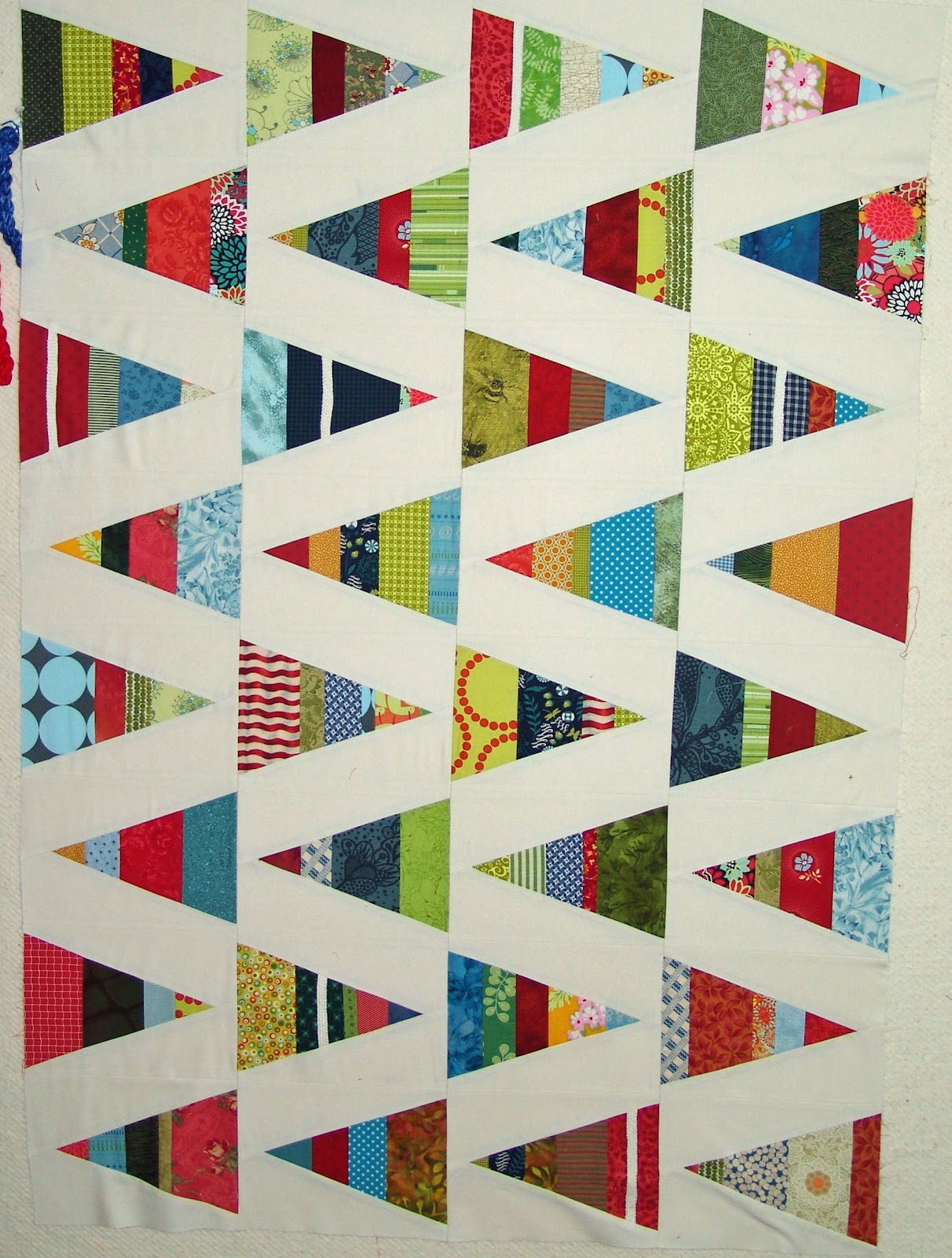 Scrappy Triangles Quilt - photo#27