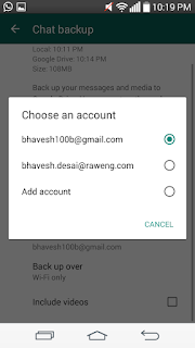 Backup WhatsApp Chat in Google Drive