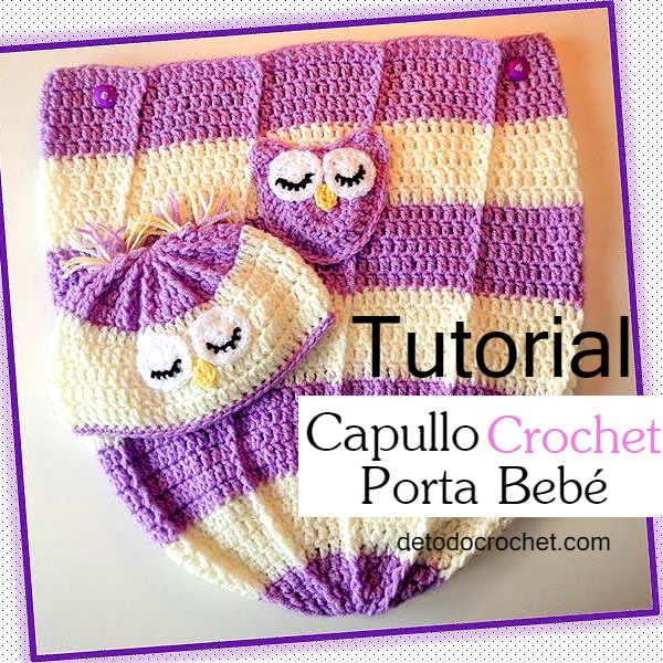 Capullo para bebé (cocoon) y gorro crochet / Tutorial en español ...