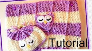 Capullo para bebé (cocoon) y gorro crochet / Tutorial en español