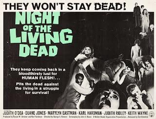 Poster película La noche de los muertos vivientes