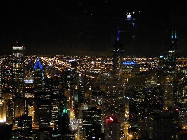 Chicago vue du haut de la tour John Hancock
