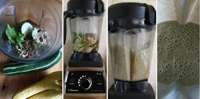 Zubereitung Zucchini-Bananen-Smoothie im Vitamix