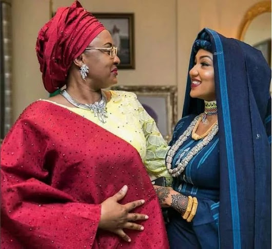 Aisha Buhari looking stunning for her daughter's wedding           -            WELCOME TO BAMMOH'S BLOG