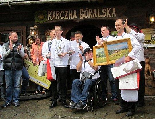 """Miłosz Kępka i Roman Dziwisz z Hotelu """"Hugo"""" w Kędzierzyn-Koźle (III miejsce)."""