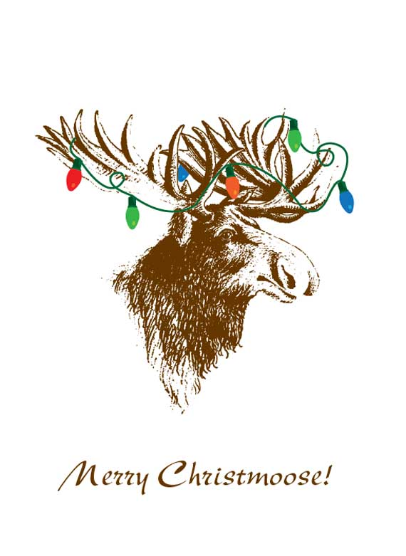 Its About Art And Design Merry Christmoose Christmas Card