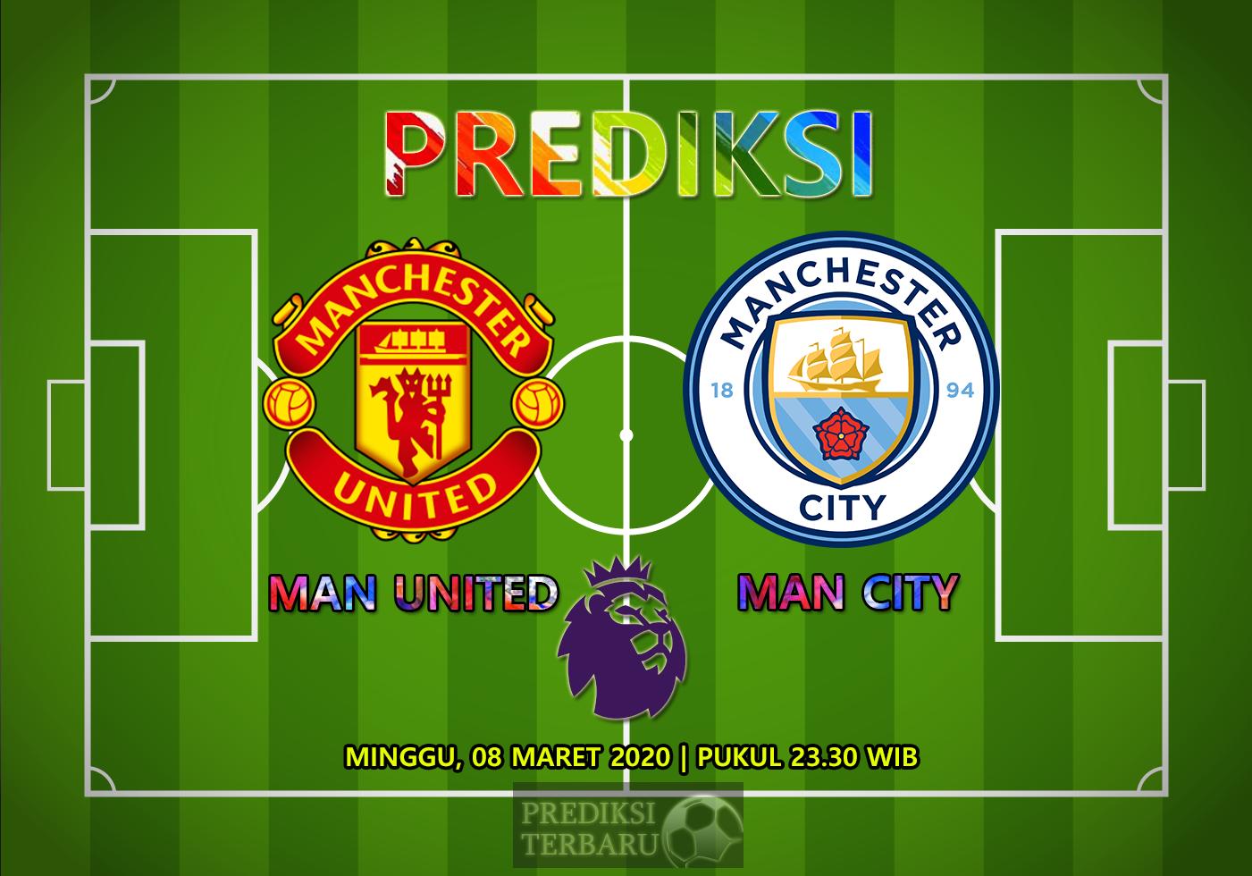 Prediksi Manchester United Vs Manchester City Minggu 08 Maret