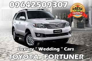 luxury wedding cars Toyota Fortuner