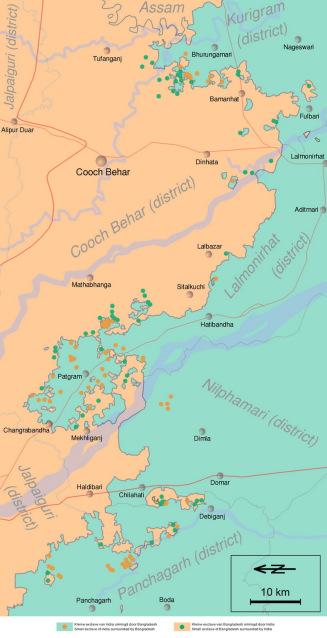 Perbatasan Bangladesh – India (Cooch Behar – Distrik)