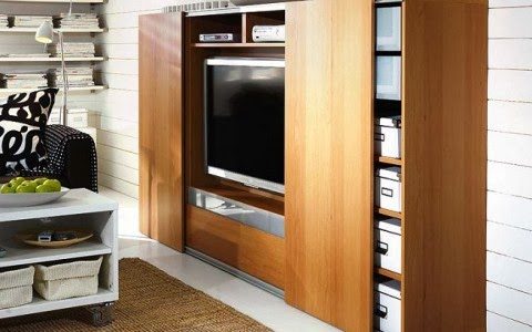 ocultar televisión en armario