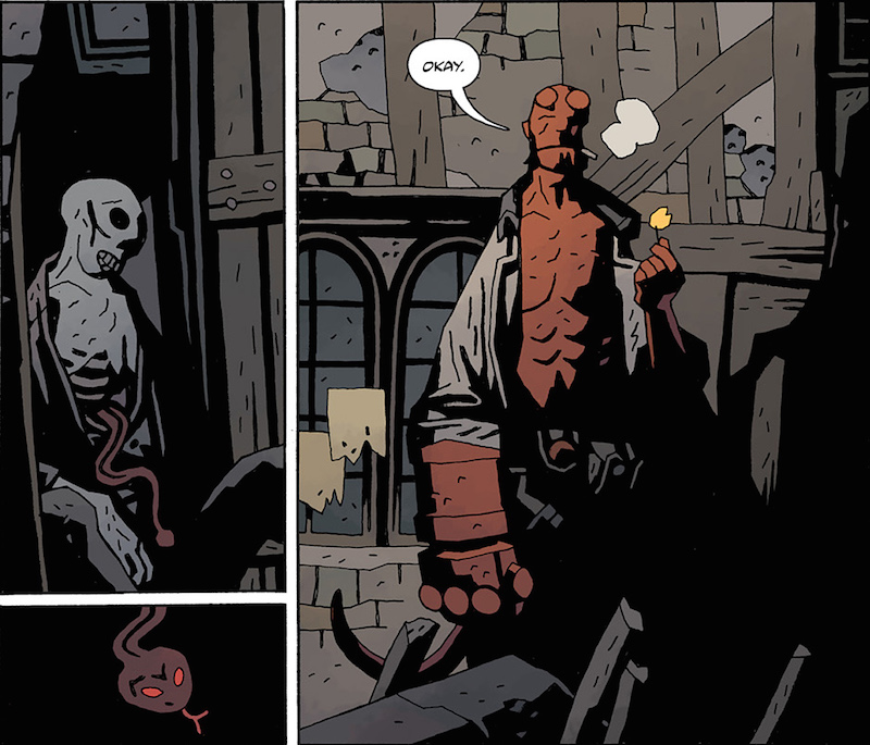Hellboy in Hell #4. Hellboy created by Mike Mignola Colors: Dave Stewart Letters: Clem Robins Design: Cary Grazzini.