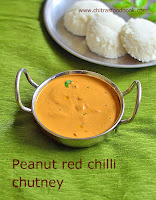 Peanut red chilli chutney