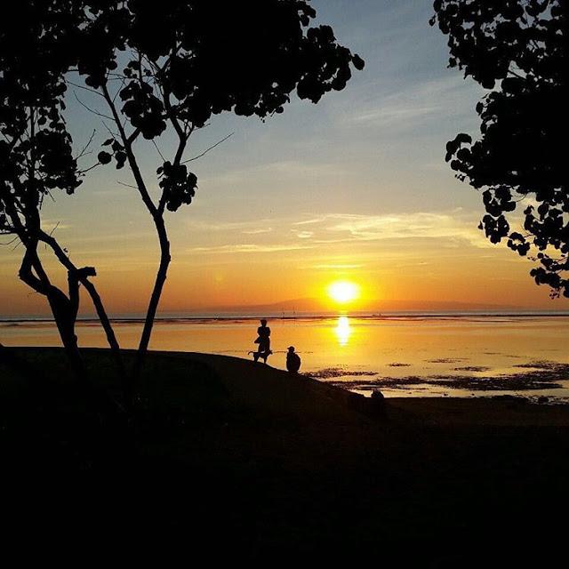 foto sunrise di pantai sanur