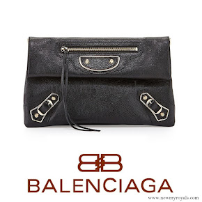 Princess Madeleine carried Balenciaga Classic Envelope Clutch Bag