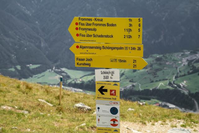 Alpenrosensteig vom Fisser Joch nach Fiss  Wanderung Serfaus-Fiss-Ladis 9