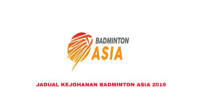 Keputusan Kejohanan Badminton Asia 2019 (Jadual)