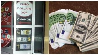 Opérations de change : EURO - DOLLAR- XOF