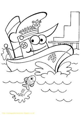 Mewarnai Gambar Kapal Laut - 20