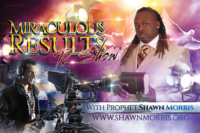 Miraculous Results Church Sermon TV Show With The Prophet Shawn Morris Horizontal Flyer Design