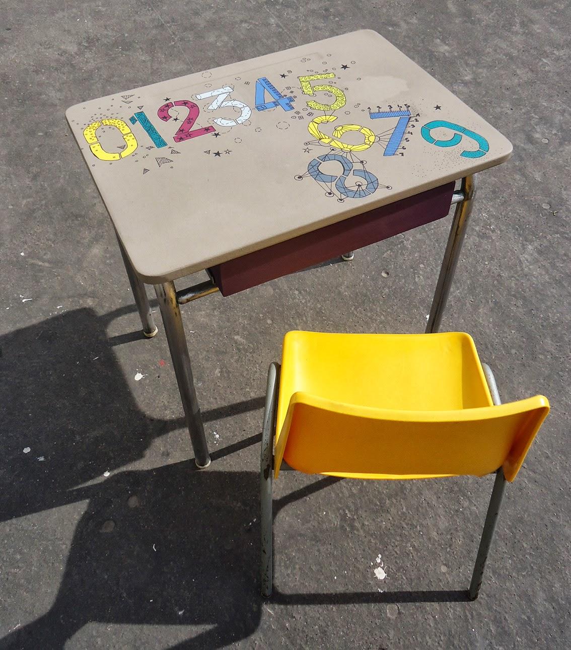 biblots et patinette table d 39 colier et sa chaise 70 39 s. Black Bedroom Furniture Sets. Home Design Ideas