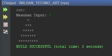 Contoh Program Segitiga Piramida Menggunakan Java