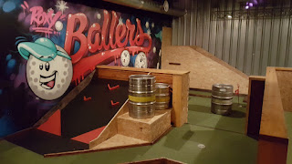 The indoor Crazy Golf course at Roxy Ball Room in Leeds