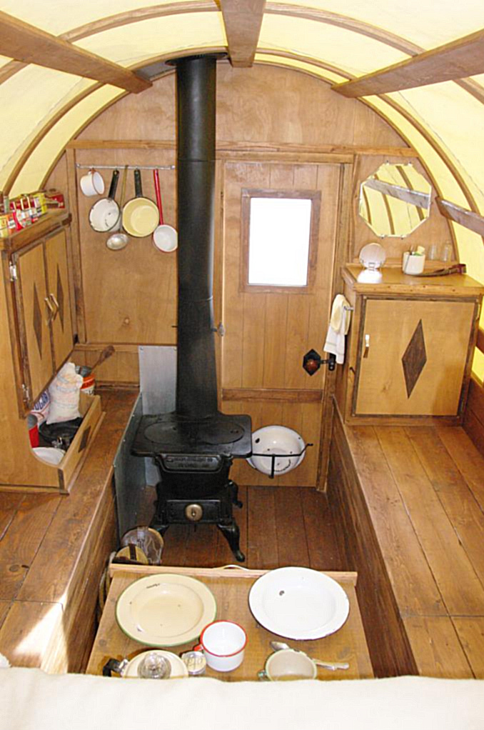 Modern Tiny House Interior: Relaxshacks.com: A Tiny Sheep Wagon/gypsy Vardo Interior