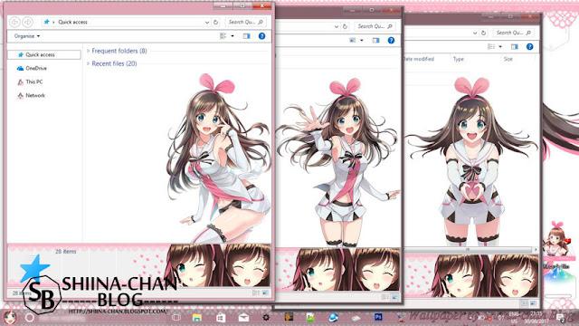 Windows 10 Ver. 1709 Theme Kizuna AI by Enji Riz